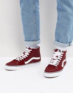 Красные парусиновые кроссовки Vans SK8-Hi - Красный