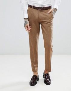 Светло-коричневые узкие брюки в крапинку Harry Brown - Рыжий
