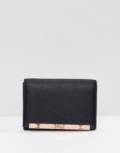 Маленький кошелек с металлической планкой Ted Baker - Черный
