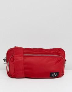Нейлоновая сумка через плечо Calvin Klein - Красный