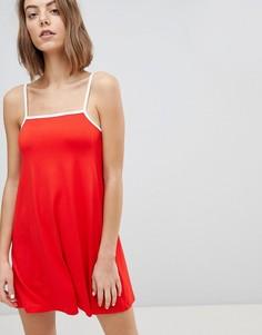Свободное платье на тонких бретельках ASOS DESIGN - Мульти