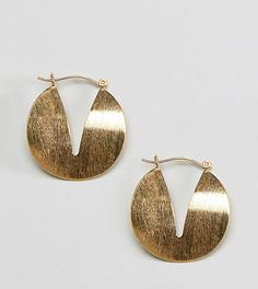 Серебряные серьги-кольца ASOS DESIGN - Золотой