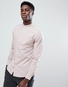 Рубашка с воротом на пуговице Selected Homme - Серый
