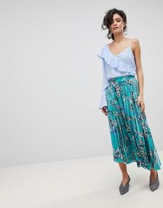 cb27f289960 Длинная юбка с плиссировкой и цветочным принтом Gestuz - Мульти
