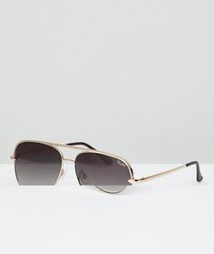 Солнцезащитные очки-авиаторы Quay Australia X Desi Sahara - Золотой