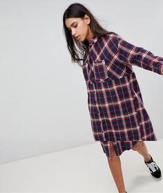 Платье-рубашка в клетку Noisy May - Мульти