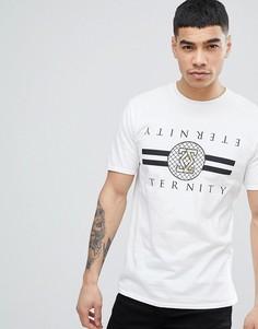 Белая футболка с принтом River Island - Белый