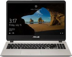 "Ноутбук ASUS X507UA-BQ072T, 15.6"", Intel Core i3 6006U 2.0ГГц, 4Гб, 1000Гб, Intel HD Graphics 520, Windows 10, 90NB0HI2-M00960, золотистый"
