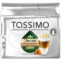 Капсулы BOSCH TASSIMO JACOBS Латте Карамель, для кофемашин капсульного типа, 8 шт [8050046]