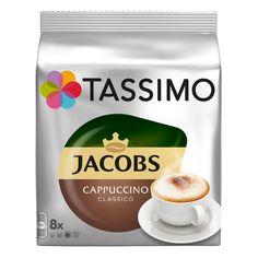 Капсулы BOSCH TASSIMO JACOBS Капучино, для кофемашин капсульного типа, 8 шт [4031500]