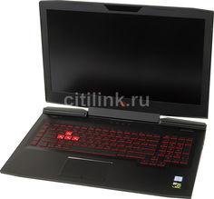 """Ноутбук HP Omen 17-an013ur, 17.3"""", Intel Core i5 7300HQ 2.5ГГц, 8Гб, 1000Гб, 128Гб SSD, nVidia GeForce GTX 1050 - 2048 Мб, Free DOS, 2CK21EA, черный"""