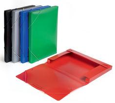Папка-короб на резинке Бюрократ -BA25/05BLCK пластик 0.5мм корешок 25мм A4 черный