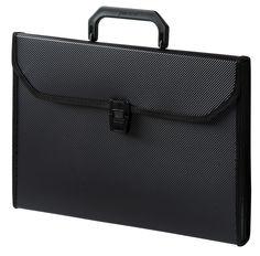 Портфель Бюрократ -BPP6TLBLCK 6 отдел. A4 ребрист. поверхн. с окантовкой пластик 0.7мм черный
