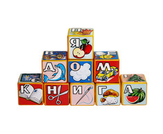 Игра Строим вместе счастливое детство Кубики Алфавит 5113