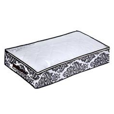 Аксессуар Кофр для хранения вещей Доляна Вензель 80x45x15cm White-Black 1159133