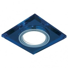 Точечный светильник gauss backlight синий/хром gu5.3 led подсветка 4100k bl061