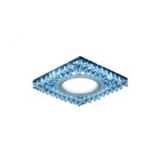 Точечный светильник gauss backlight черный/кристалл/хром gu5.3 led подсветка 4100k bl032
