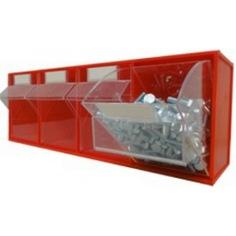 Откидной короб 4 ячейки, красный/прозрачный стелла fox 104