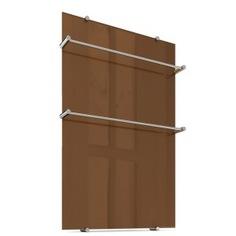 Электрический полотенцесушитель теплолюкс flora 60х90 коричневый, 260 вт