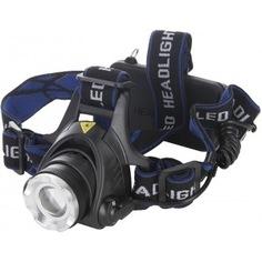 Налобный аккумуляторный фонарь ultraflash e150 220в, черный, cree 5вт, фокус, 2 аккум. 18650, 3 режима 12188