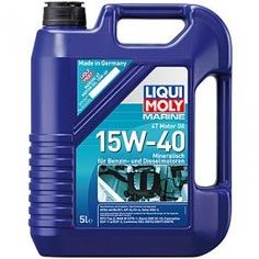 Минеральное моторное масло для лодок liqui moly marine 4t motor oil 15w-40 5л 25016