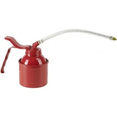 Масленка 250мл, сталь, красная, насос, прозрачная гибкая трубка pressol 05133