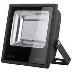 Светодиодный прожектор led 150w ip65 6500к черный gauss 613100150