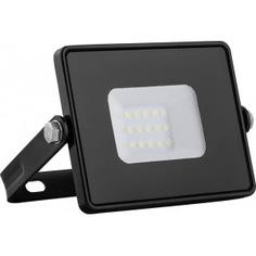Светодиодный прожектор 2835 smd 20w 6400k ip65 ac220v/50hz, черный с матовым стеклом 114*121*26мм feron ll-919 29492