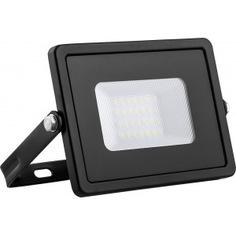 Светодиодный прожектор 2835 smd 30w 4000k ip65 ac220v/50hz, черный с матовым стеклом 132*153*27мм feron ll-920 29495