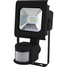 Светодиодный прожектор эра lpr-10-4000к-м-sen smd pro б0028652
