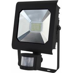 Светодиодный прожектор эра lpr-30-6500к-м-sen smd pro б0028659