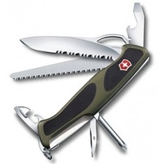 Нож victorinox rangergrip 178 0.9663.mwc4 130 мм, 12 функций, зеленый