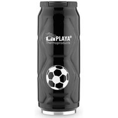 Термокружка laplaya football can 0.5 л, черная 560105