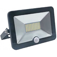 Прожектор с датчиком, черный, led, 30вт, 230в, 6500к ultraflash lfl-3001s c02 12802