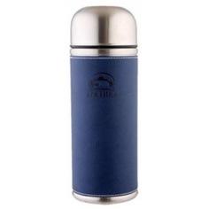 Термос арктика 0.5 л, кожаная вставка, синий 108-500
