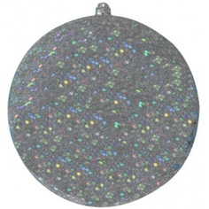 Елочные фигуры neon-night шар с блестками, 20 см, серебряные, 4шт. 502-135