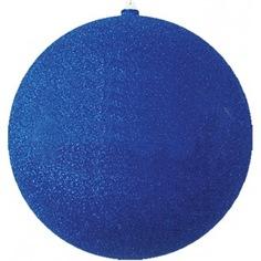 Елочные фигуры neon-night шар с блестками, 20 см, синие, 4 шт. 502-133