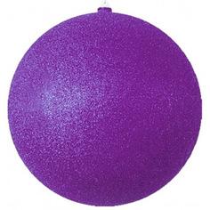 Елочные фигуры neon-night шар с блестками, 20 см, фиолетовые, 4 шт. 502-137