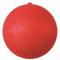 Елочная фигура neon-night шар с блестками, 25 см, красный 502-042