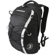 Рюкзак wenger черный/серебристый 30532499