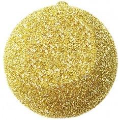 Елочная фигура neon-night шар с крупными блестками, 25см, золотая 502-041