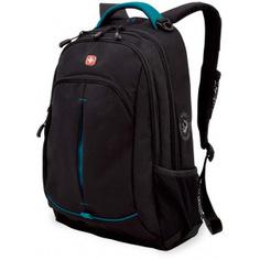 Рюкзак wenger черный/бирюзовый 3165206408-2