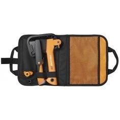 Промо-набор: топор х5 + нож для тяжелых работ + садовая пила в сумке fiskars 1025439