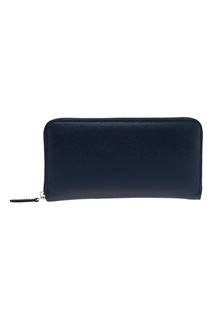 Синий кожаный кошелек Canali