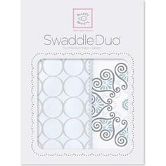 Набор пеленок SwaddleDesigns Swaddle Duo Blue Mod Medallion (SD-358B)