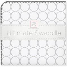 Фланелевая пеленка SwaddleDesigns для новорожденного Sterling Mod/WH (SD-022ST/SD-022KW)