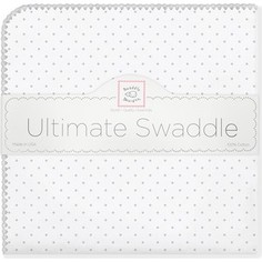 Фланелевая пеленка SwaddleDesigns для новорожденного Sterling Dot (SD-001ST)