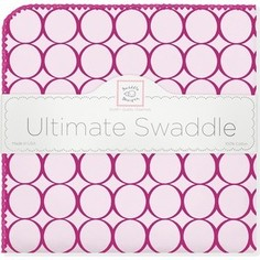 Фланелевая пеленка SwaddleDesigns для новорожденного Кружки - фуксия (SD-400VB)