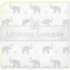 Фланелевая пеленка SwaddleDesigns для новорожденного PY Elephants/Chicks (SD-460PY)