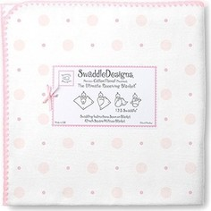 Фланелевая пеленка SwaddleDesigns для новорожденного Ultimate Pink Big Dot Lt Dot (SD-492P)